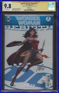 Wonder Woman Rebirth #1 CGC 9.8 SS Signed by cover artist Stanley Artgerm Lau