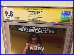Wonder Woman Rebirth #1 CGC SS 9.8 NYCC Gold Foil Signed by Jim Lee