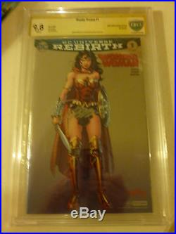 Wonder Woman Rebirth 1 SDCC Exclusive Variant DC CBCS 9.8 Signed by Jim Lee