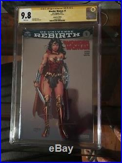 Wonder Woman Rebirth #1 Silver Foil Cgc 9.8 Nycc Convention Signed Jim Lee