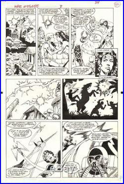 Wonder Woman War Of The Gods #3 Page 24 Original Art By George Perez RARE