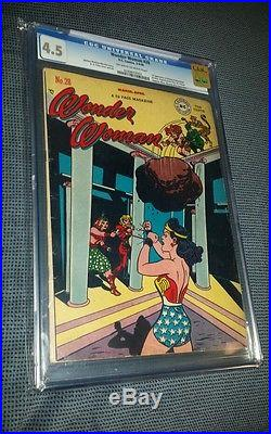 Wonder woman 28 CGC 4.5 OWithWH (1948) 1st Villainy Incorporated