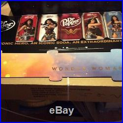 Wonder woman Dr Pepper standee ultra rare about 4 ft wide but 5'ft tall